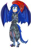 Elly in a Kimono