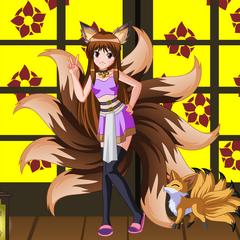 Zuza jako Kitsune