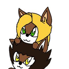 Chibi Mariko i Chibi Aaron (Art by <a href=