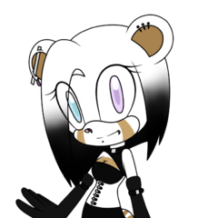 Ophelia the Dhampir Ermine - by <a rel=
