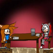 Alexis and Nikki anime scene
