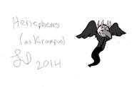 Hersephenes as Krampus