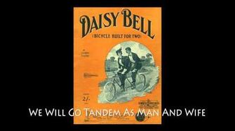 """Daisy Bell' - Original 1894 Phonograph Recording - LYRICS"