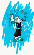 Skid The Hedgehog (Kaio-Ken Fighting Academy) - Drawing 1-611745856
