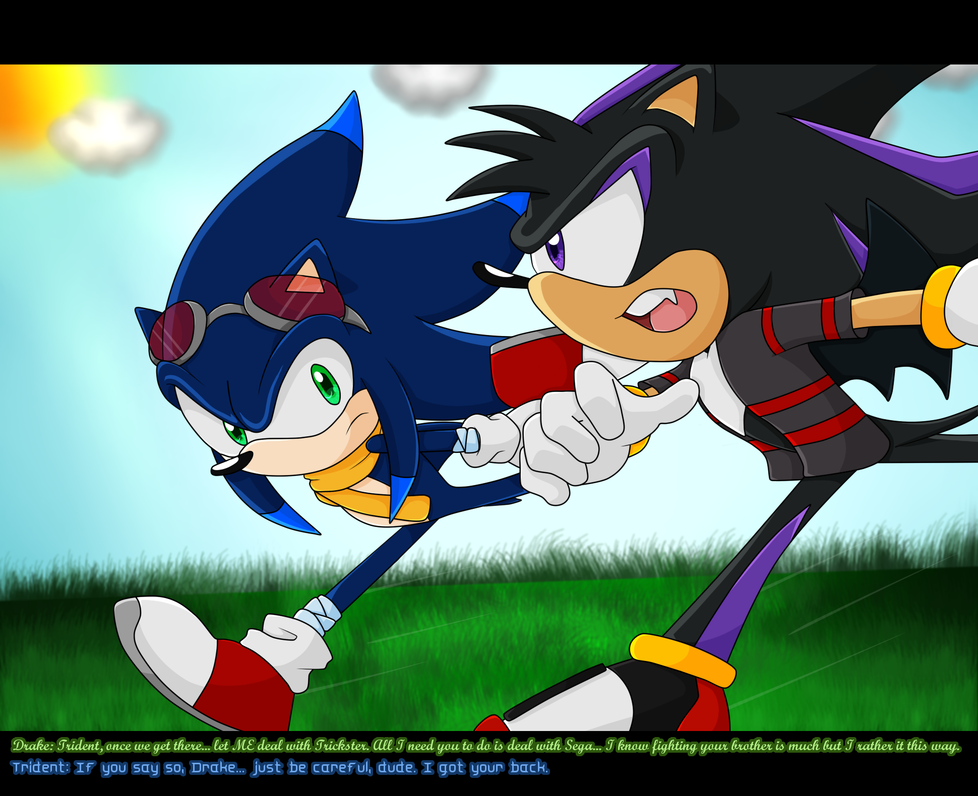 Fotos Do Sonic X with image - trident and drake to the rescue - fake sonic x screenshot