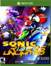 Sonic Riders Unlimited Xbox Cover