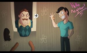 Hello neighbor by bluestripedrenulian-dav8hzn