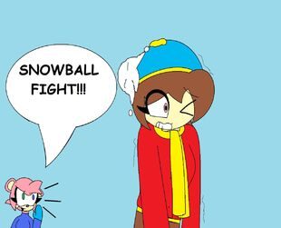 Erica and Aqua's Snowball Fight
