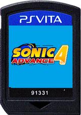 Sonic Advance 4 PS Vita Game Card