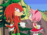 Knuckles and Amy heading off to Eggman land