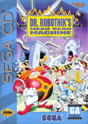 Dr Robotnik's Mean Bean Machine Sega CD Cover