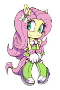 Fluttershy mobianized by cylent nite-d6reaos
