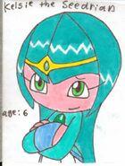 Kelsie the Seedrian by cmara
