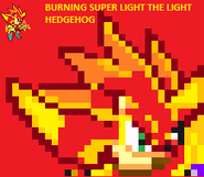 Burning Super light The Light Hedgehog