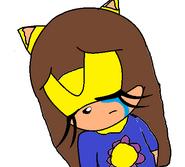 Nancy shedding a tear