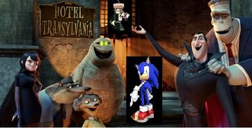Sonic the Hedgehog goes to Hotel Transylvania