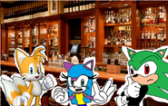 Tails, June and Thomas in the Naughty Ottsel