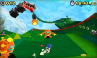 Sky Road Zona 3 Screenshot - Sonic Lost World 3DS