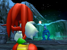 Knuckles e Chaos Screenshot - Sonic Adventure