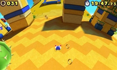 Desert Ruins Zona 1 Screenshot - Sonic Lost World (Nintendo 3DS)