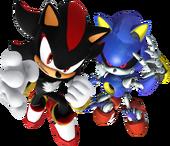 Shadow e Metal Sonic Artwork - Sonic Rivals 2