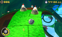 Silent Forest Zona 1 Screenshot - Sonic Lost World 3DS