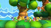 Yoshi's Island Zone Screenshot - Sonic Lost World
