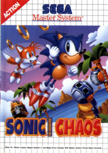 Sonic Chaos (Master System) - Boxart EUR