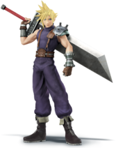 Cloud Strife Artwork - Super Smash Bros. per Nintendo 3DS e Wii U