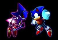 Sonic e Metal Sonic Artwork - Sonic CD