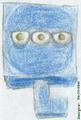 Donkerblauw klein