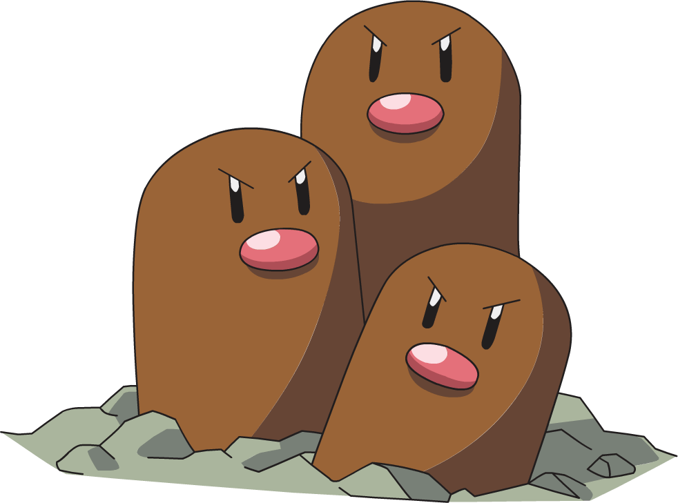 dugtrio is one of the easiest pokemon to draw