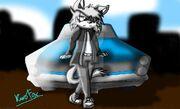 Max and car