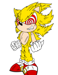 Fleetway super sonic flat by Magnum13