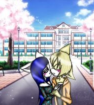 Emma and marek kiss