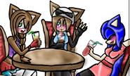 Kyoko, Sahra and Cry