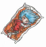 Chibi-Stiles is sleeping