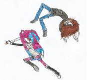 Valerie and Evil Stiles fight XD