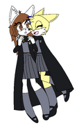 Laura and Tailsy in Hogwarts