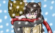 Castiel hug Lina