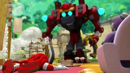 Knuckles VS Obliterator Bot 06