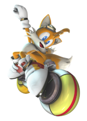 Tails Sonic Riders Zero Gravity Artwork