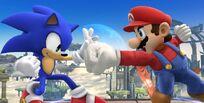 Sonic VS Mario (SSB4)