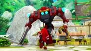 Knuckles VS Obliterator Bot 01