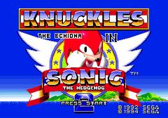 Ecran Titre Knuckles in Sonic 2
