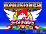 Knuckles the Echidna in Sonic the Hedgehog 2