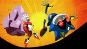 Mighty vs Metal sonic