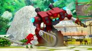 Knuckles VS Obliterator Bot 02