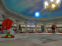 Knuckles being tricked by Eggman