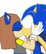Luna kisses Sonic